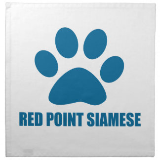 RED POINT SIAMESE CAT DESIGNS NAPKIN