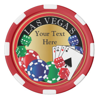 Red Poker Night | DIY Text Set Of Poker Chips