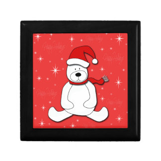 Red polar bear gift box