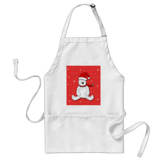 Red polar bear standard apron