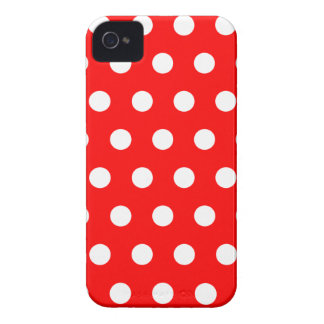 Red Polka Dot Blackberry Case