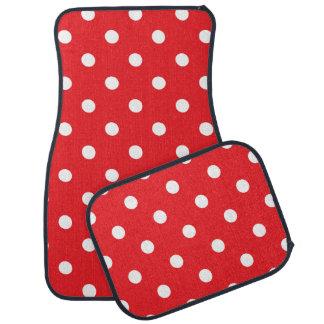 Red Polka Dot Car Mat