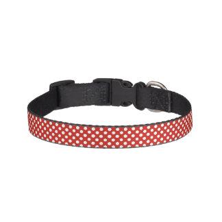 Red polka dot collar