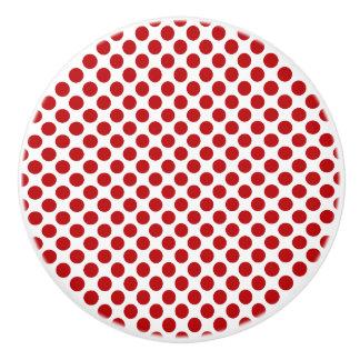 Red Polka Dot Design - Drawer Knob
