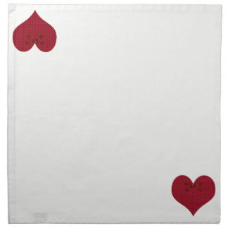 Red Polka Dot Heart Napkin