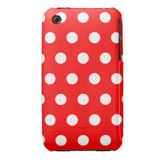 Red Polka Dot iPhone 3G Case Case-Mate iPhone 3 Case