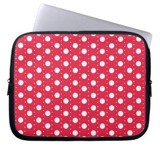 Red Polka Dot Pattern Computer Sleeve