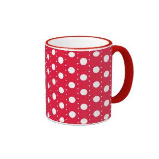 Red Polka Dot Pattern Coffee Mug