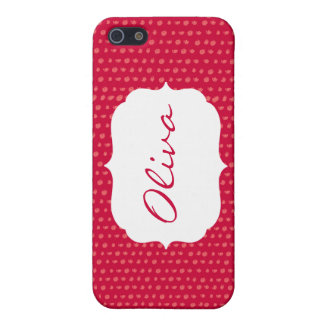 Red Polka Dot Personalized iPhone Case iPhone 5 Cases