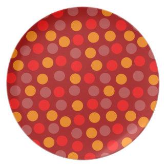 Red Polka Dot Plate