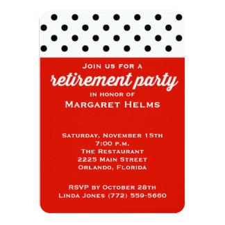 Red Polka Dot Retirement Party Invite