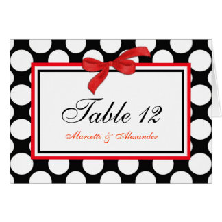 Red Polka Dot Table Cards