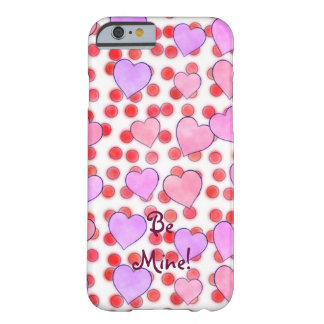 Red Polka Dots And Pink Hearts Barely There iPhone 6 Case