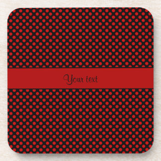 Red Polka Dots Beverage Coasters