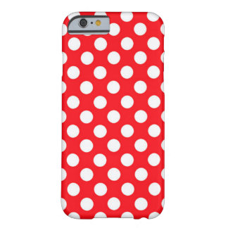 Red Polka Dots Barely There iPhone 6 Case