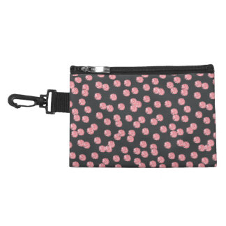 Red Polka Dots Clip On Accessory Bag