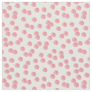 Red Polka Dots Combed Cotton Fabric