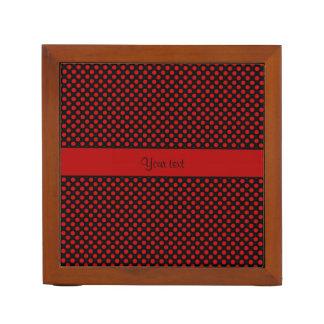 Red Polka Dots Desk Organiser
