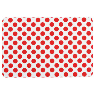 Red Polka Dots Floor Mat