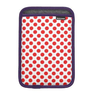 Red Polka Dots iPad Mini Sleeve
