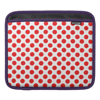 Red Polka Dots iPad Sleeve