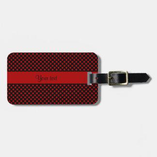 Red Polka Dots Luggage Tag