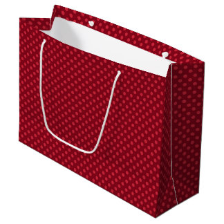 Red Polka Dots on Red Large Gift Bag