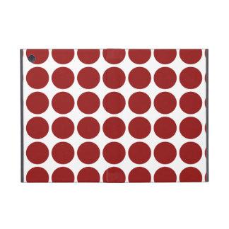 Red Polka Dots on White iPad Mini Cover