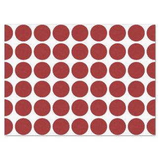 """Red Polka Dots on White Tissue Paper 17"""" X 23"""" Tissue Paper"""