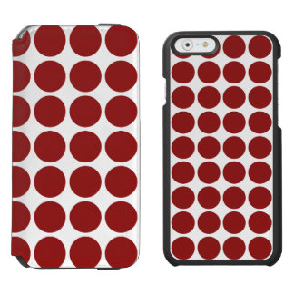 Red Polka Dots on White Incipio Watson™ iPhone 6 Wallet Case