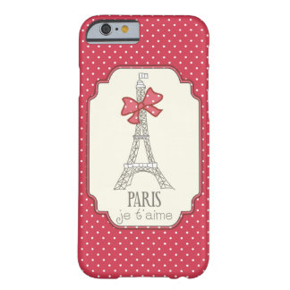 Red Polka Dots Paris Je t'aime Barely There iPhone 6 Case