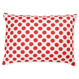 Red Polka Dots Pet Bed