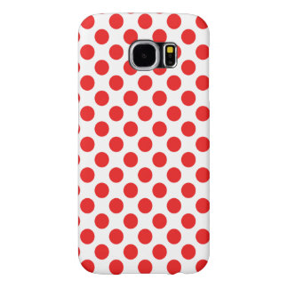 Red Polka Dots Samsung Galaxy S6 Cases