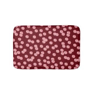 Red Polka Dots Small Bath Mat