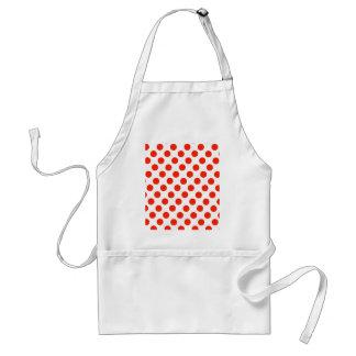 Red Polka dots Standard Apron