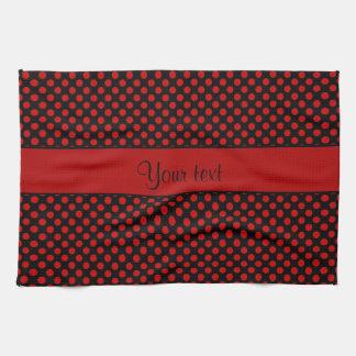 Red Polka Dots Tea Towel