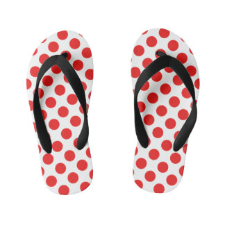 Red Polka Dots Thongs