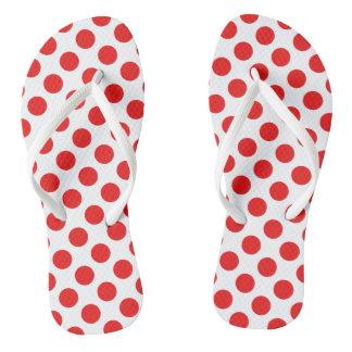 Red Polka Dots Thongs