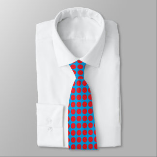Red Polka Dots Turquoise Tie