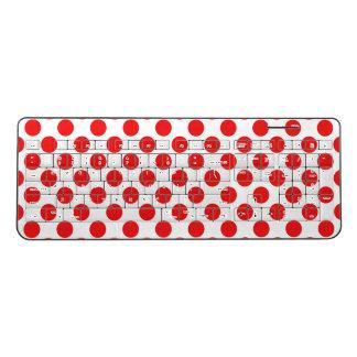 Red Polka Dots Wireless Keyboard