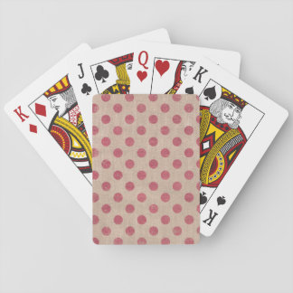 red polkadot christmas holiday rustic playing card