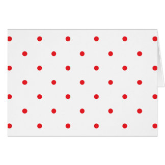 Red Polkadots Small Card