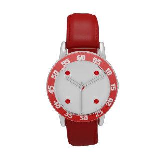 Red Polkadots Small Watch