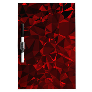 Red polygonal background dry erase board
