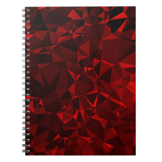 Red polygonal background note books