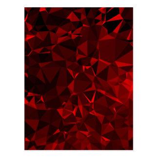 Red polygonal background postcard