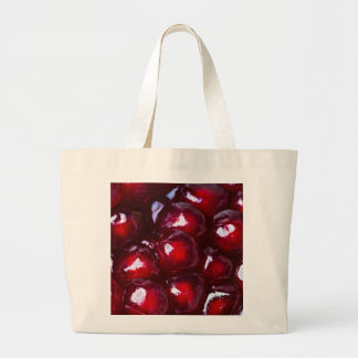Red Pomegranate Seeds Large Tote Bag
