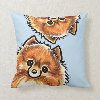 Red Pomeranian Paws Up Cushion