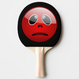 Red Pong Buddy Emoticon Ping Pong Paddle