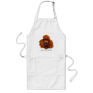 Red Poodle Illustrated Apron